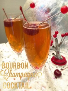 Bourbon Champagne Cocktail | ShesCookin.com