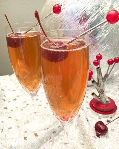 Bourbon Champagne Cocktail| ShesCookin.com