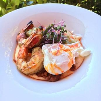 Shrimp & Grits Chorizo Sofrito and chili oil | ShesCookin.com