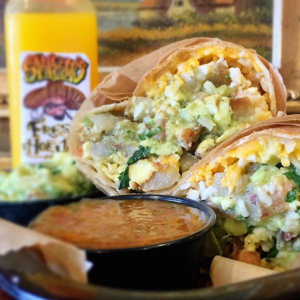 Sancho's Breakfast Burrito | ShesCookin.com