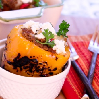 Picadillo Stuffed Peppers for Cinco de Mayo