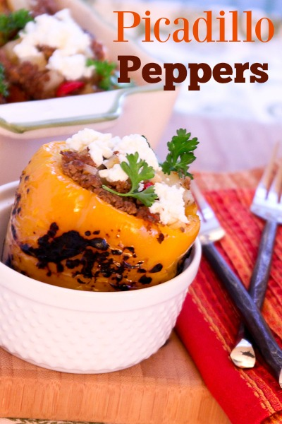 Picadillo Stuffed Peppers ShesCookin.com