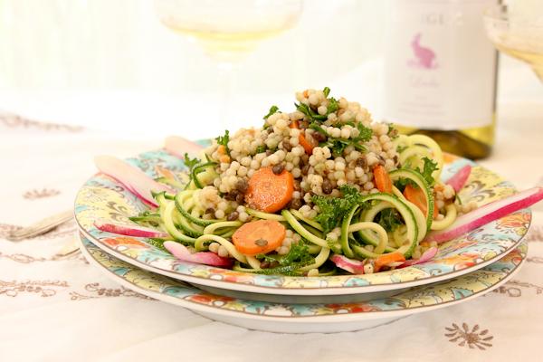 Couscous-Lentil Zoodle Salad   ShesCookin.com