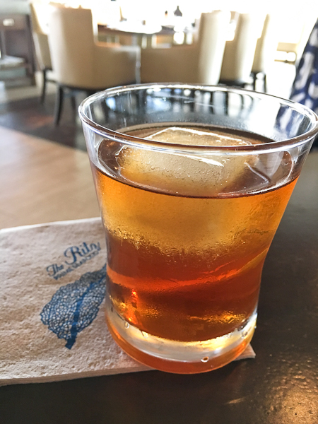 The Ritz 55 rye whiskey cocktail - Ritz Prime Seafood | ShesCookin.com