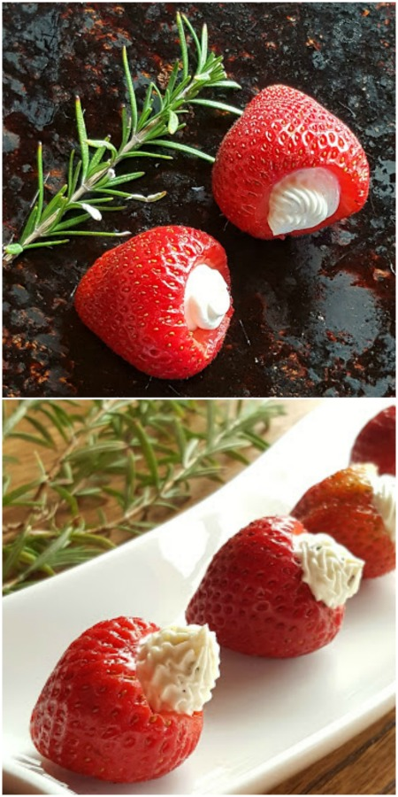 Goat Cheese Filled Strawberries