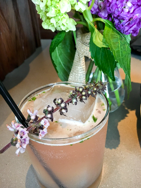 Snozzberry - vodka, blackberry liqueur, lime, fresh basil, ginger | ShesCookin.com