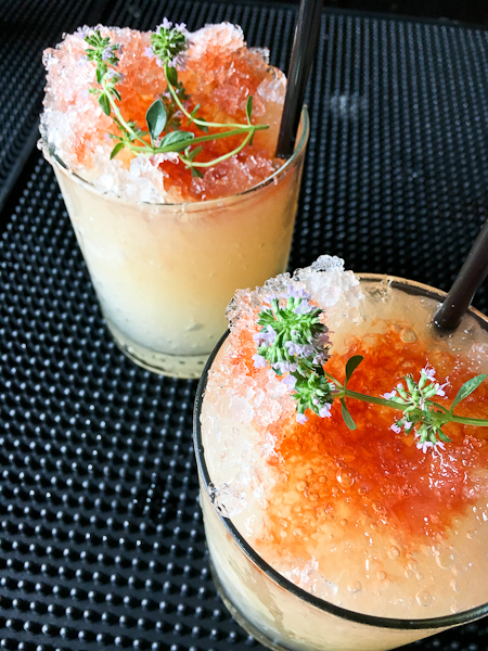 Ginbo Slice - gin, lime, citrus thyme, grapefruit, blood orange bitters | ShesCookin.com