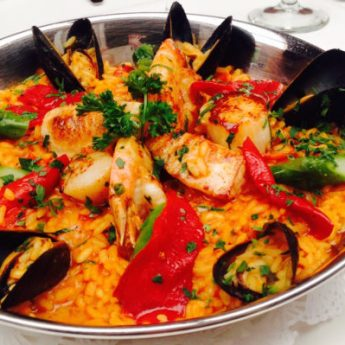 Paella - Spanish Night at Bistango | ShesCookin.com