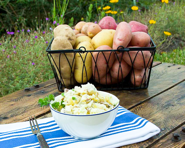 Creamy Three-Potato Potato Salad