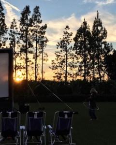 Hotel Irvine Backyard Movie Nights | ShesCookin.com