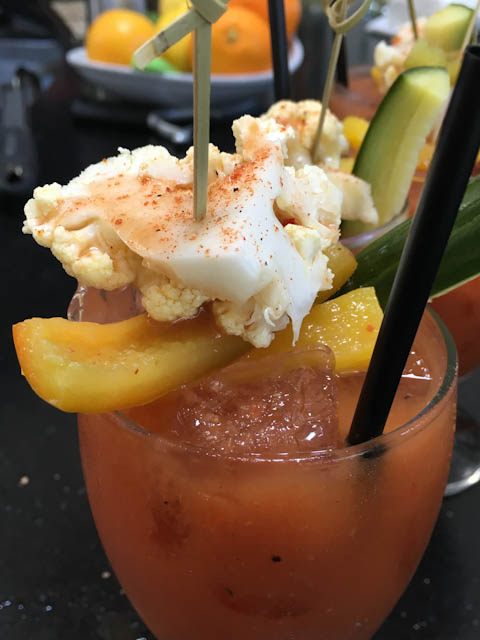 Vegetarian Bloody Mary - Pizzeria Ortica | ShesCookin.com