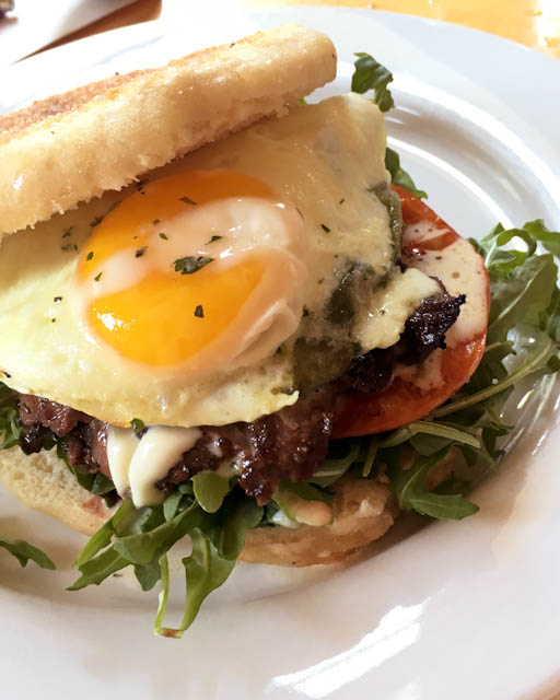 Oven-roasted Skirt Steak Breakfast Sandwich | ShesCookin.com