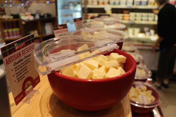 Cheddar cheese at Cabot Cheese Cooperative