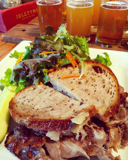 Smoked Brisket Reuben at Idletyme Brewery | ShesCookin.com