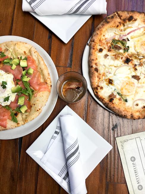 Breakfast Pizzas, Settebello Pizzeria, Newport Coast | ShesCookin.com