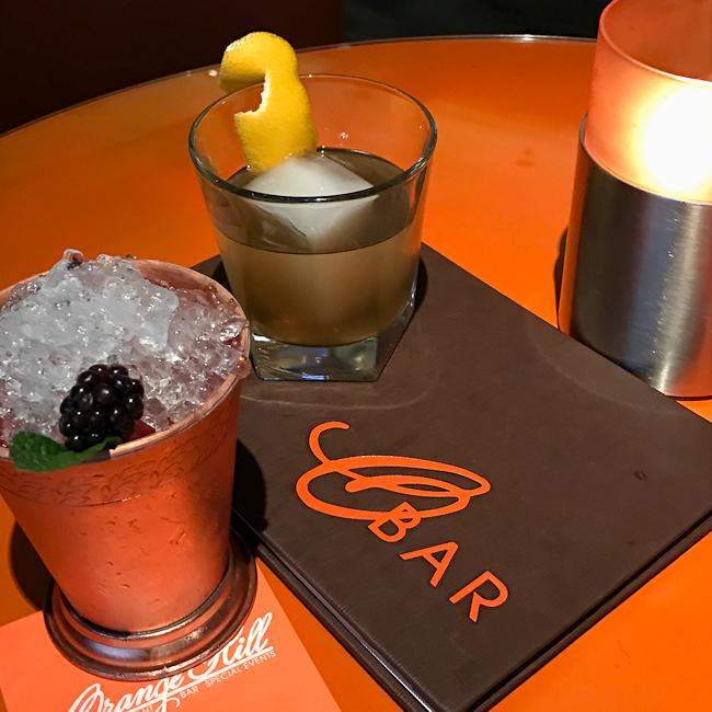 Craft Cocktails at Orange Hill