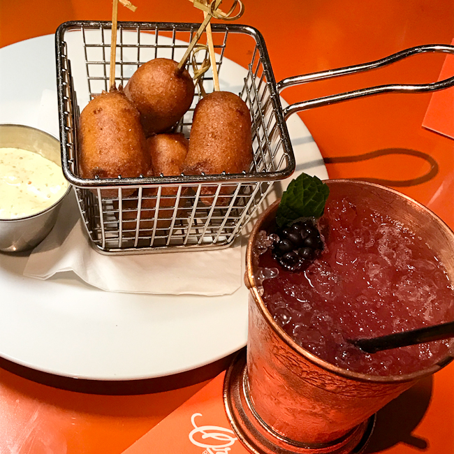 Shrimp Corn Dog appetizer