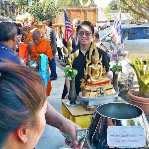 Honoring King Bhumibol, Thai Buddhist Temple, Chino Hills
