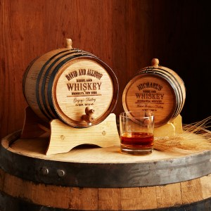 Gift Ideas for Booze and Beer Enthusiasts, Uncommon Goods Personalized Whiskey Barrel