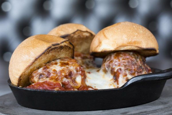 House-ground meatball sliders at Stag Bar + Kitchen in Newport Beach. (Courtesy Stag Bar)