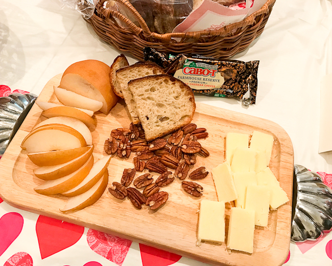 Simple Cheese Board, Cabot Cheese, Korean Pear and Pecans