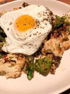 Grilled Cauliflower with Broccoli and Fried Egg North Italia