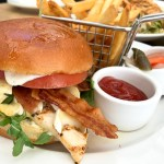 Parisian Chicken Sandwich with Bacon, Brie, and Arugula