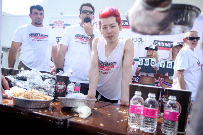 Takeru Kobayashi, world champion eater, competition eating, taco eating champion