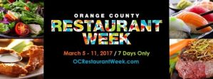 Orange County Restaurant Week