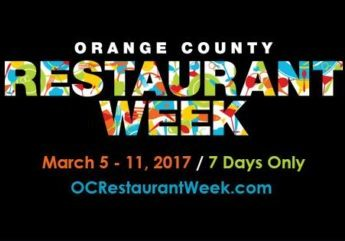 It's Time To Dine…Out! 2017 Orange County Restaurant Week, March 5-11