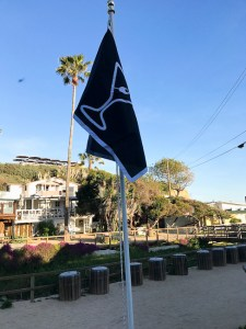 Raising the martini flag at Beachcomber's Cafe
