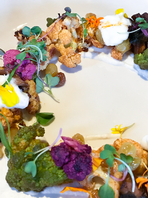 Cauliflower, Maitake Mushroom, Raisin Salad | Lido Bottle Works | ShesCookin.com