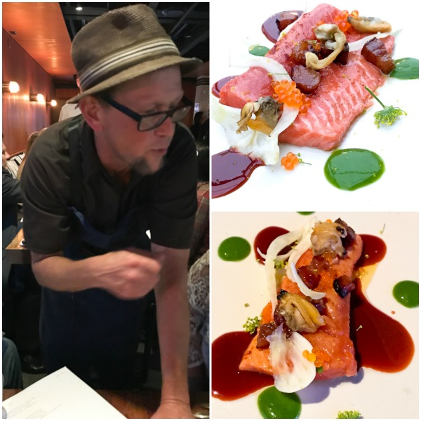 Chef Joel Harrington, Tuna Tartare and Rock Fish Cebiche at Lido Bottle Works
