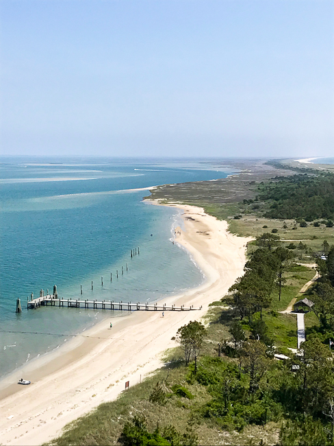View from Cape Lookout lighthouse | ShesCookin.com