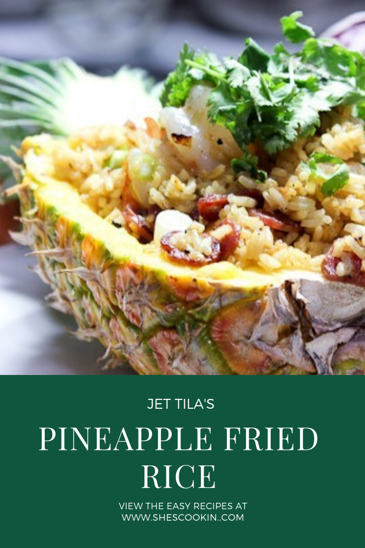 Pineapple Fried Rice - recipe from Jet Tila\'s 101 Asian Dishes You Need to Cook Before you Die | #rice #shrimp #friedrice #pineapple #ChineseNewYear