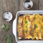 Baked Brown Ale Potato Cheddar Enchiladas, Beer on Tap cookbook