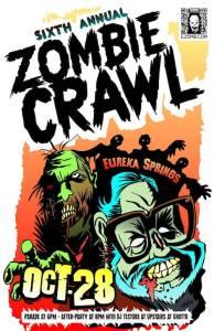 Eureka Springs, Halloween zombie crawl