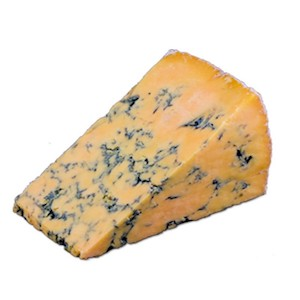 Shropshire blue cheese from England