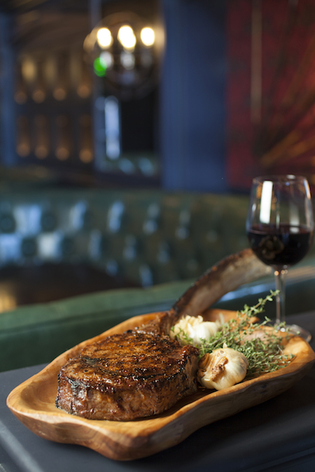The Country Club Tomahawk Steak, Photo Credit Alan De Herrera
