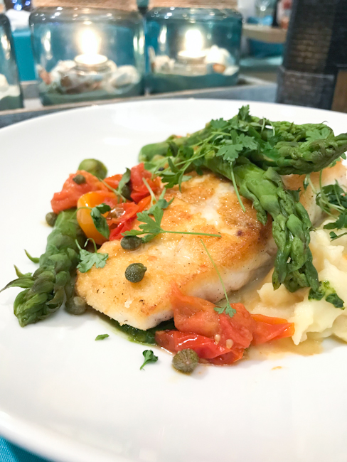 Local Halibut with Asparagus | ShesCookin.com
