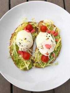 Avocado Toast with Poached Eggs | ShesCookin.com