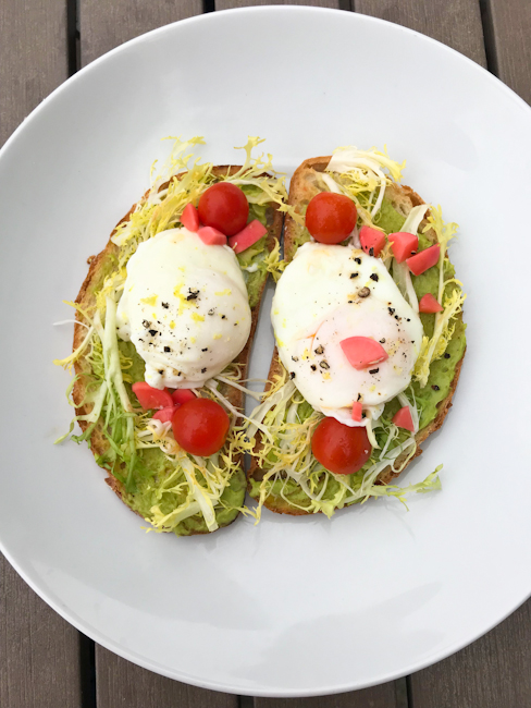 Avocado Toast with Poached Eggs | ShesCookin.com