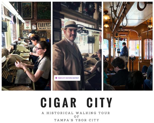 Cigar City collage, Ybor City, Tampa, Florida