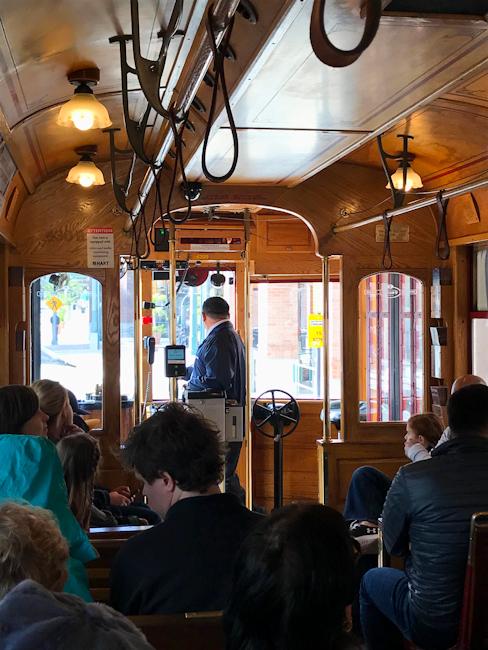 Historic street car, Ybor City, Tampa, Florida