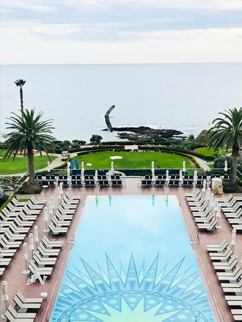 Pool and Ocean View at Montage Laguna Beach, California