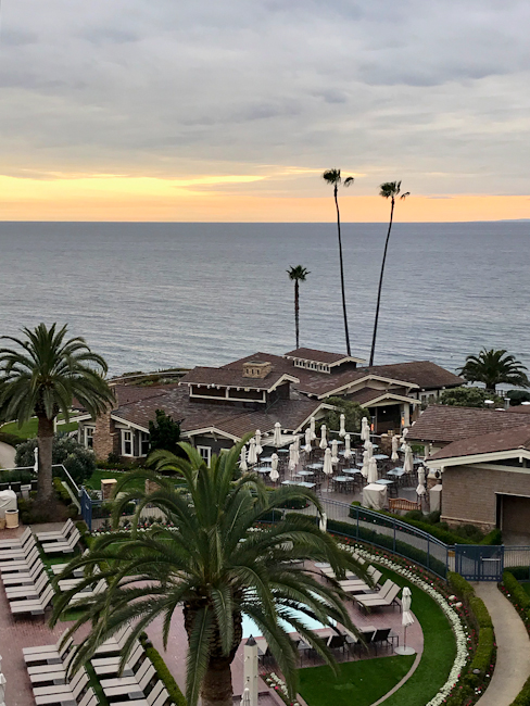 Pacific ocean view from Montage Laguna Beach