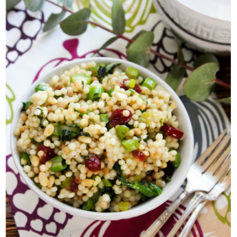 Couscous Salad with Greens and Cranberries