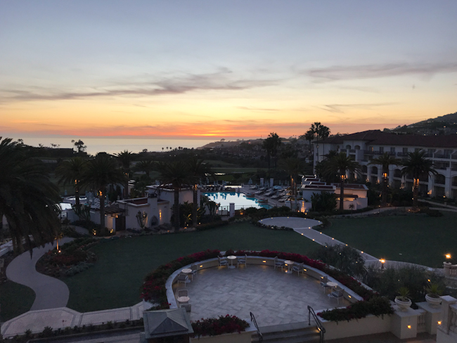 sunset at Monarch Beach Resort, Dana Point, California