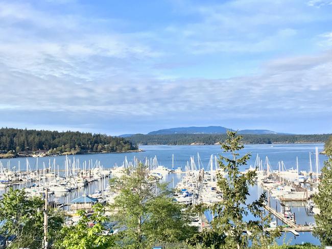 View of Friday Harbor, San Juan Island, Washington