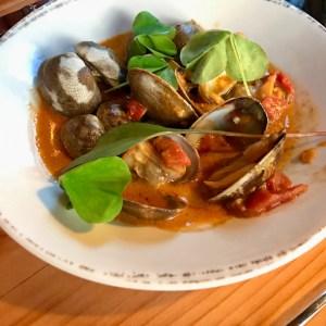 Wescott Bay Clams Vindaloo, Duck Soup restaurant, San Juan Island